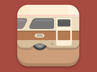Mobile Home Flat Icon
