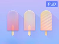 Icecreams Free Psd