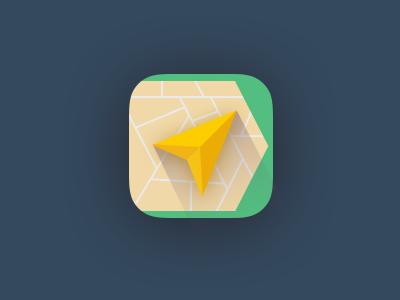 Yandex Navigator Icon flat icon scetchapp map ios7 iphone ipad app redesign yandex vector