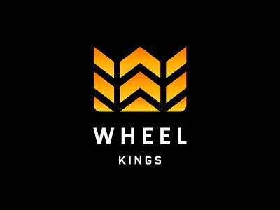 Wheel kings branding tyres car custom wheel tuning logotype logo