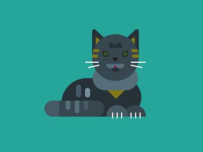 Cat illustrator 2d illustration meow cute gato pet cat simple
