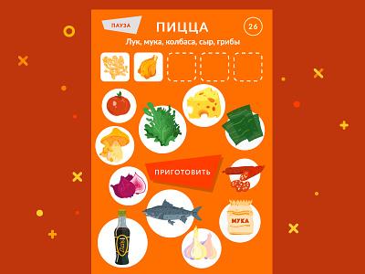 Worldskills Mini Game Design ios drag food illustration game dev ux ui cook pizza