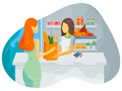 Shopping Illustration e-commerce illustrator store market shop illustration