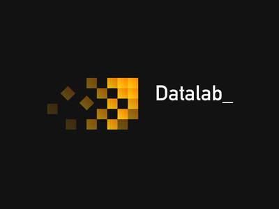 DataLab big data data pixel simple branding design clean vector 2d logo