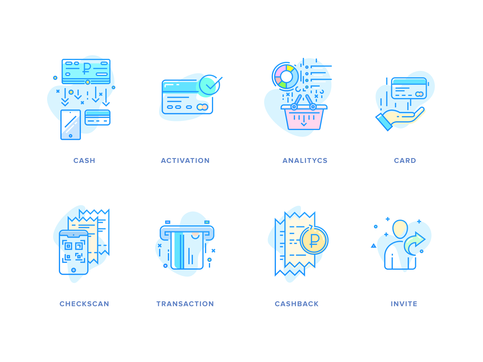 cashback icon set by bulat zalyaev on dribbble cashback icon set by bulat zalyaev on