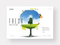 Nature website landing page design concept