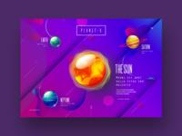 Galaxy style website design concept