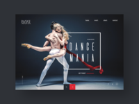 Dance Academy website landing page design concept