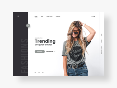 Online Clothing Store - e-commerce landing page design concept