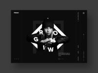 Personal portfolio website design concept