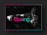 Sports game website design concept