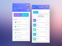 Money transfer apps UI/UX concept