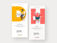 Mobile app: Pricing pages