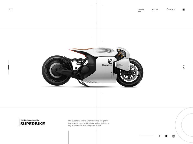Superbike World Championship superbike minimalist white whitespace racing sports bike website design webdesign website user interface landing page flat web design clean
