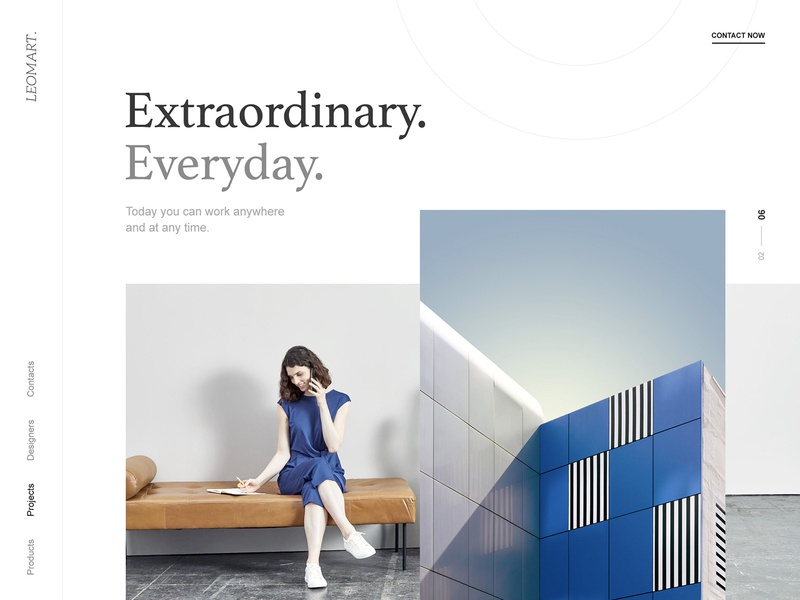 Leomart : Office Space seating homepage design fresh design everyday extraordinary webdesign website concept clean landing page web design website office space