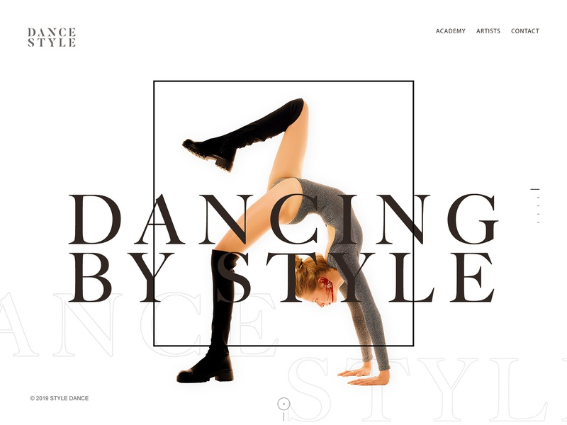 Dance Style dance classes academy website light new trend clean landing page typography web design dance music dance studio dancing dance