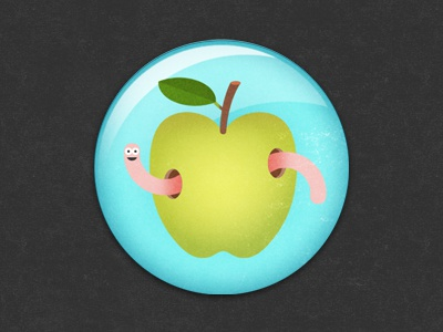 Apple apple fruit illustration badge glindon