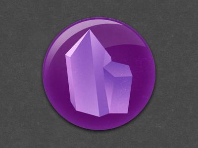 Crystal badge illustration crystal glindon