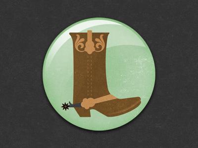 Boot Badge badge pin illustration boot glindon gamehouse