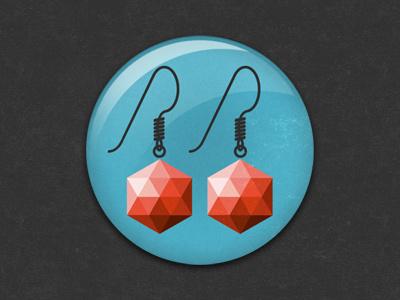 Garnet badge illustration earrings garnet jewelry glindon