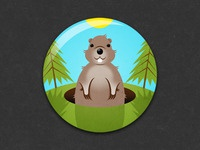 Groundhog Day Badge