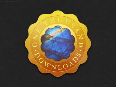 Rainbow Moonstone badge illustration glindon