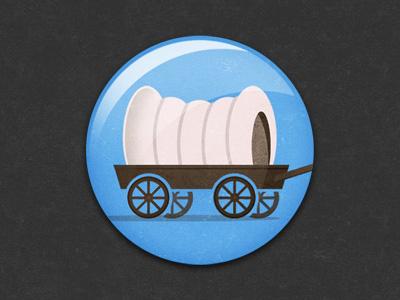 """Welcome Wagon"" badge illustration glindon"