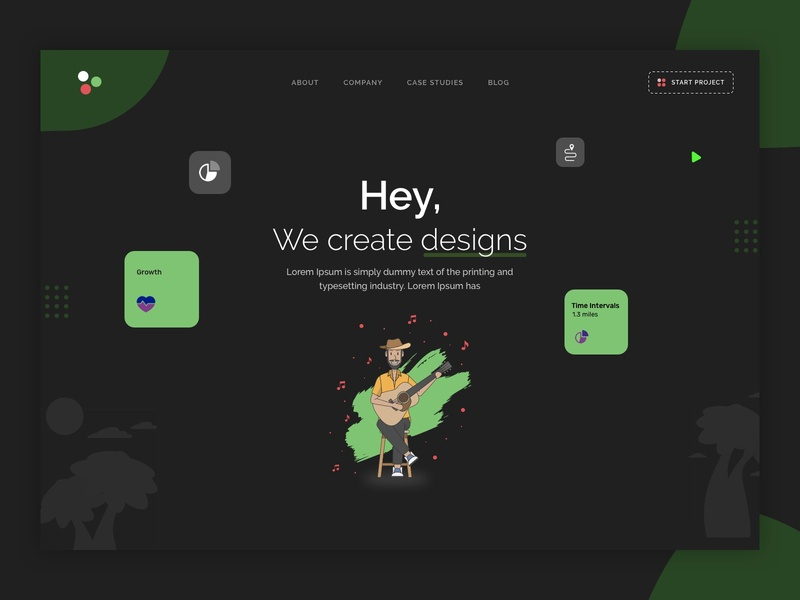 Web design concept | Agency home screen trendy pattern mobile app 2020 trend marketing campaign identity agency webpage flat minimalist website ui ux design landing page ux ui attractive minimal branding design illustration
