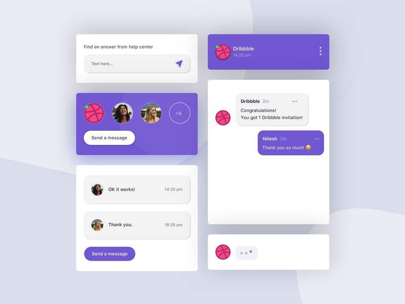 Dribbble Invite | Giveaway ux ui module mobile minimal messenger ios invite invitation illustration giveaway dribbble design conversation congratulation chatting chatbot chat app android