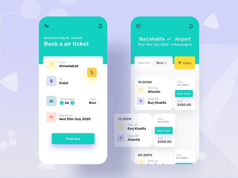 Book a Tickets illustration taxi cab flight ticket booking website minimal flat animation web app icon typography ux vector branding ui logo design