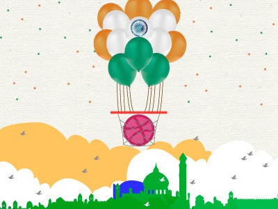 72nd independence day republic day republic independence basketball dribbble taj mahal delhi 72nd independence day tiranga indian flag india