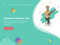 Landing Page for Music Marketplace