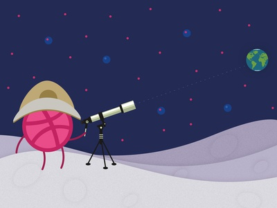 Dribbble on the Moon