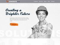 Concrete zonal dribbble landing page