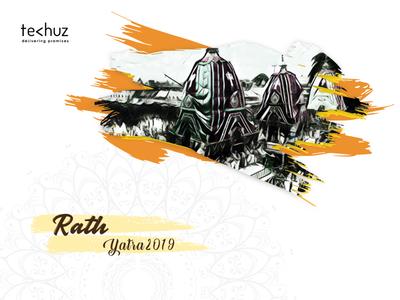 Ratha yatra 2019 | Indian festival belief culture abstract art god religion graphic design 2019 design illustration yatra ratha lisbon krishna india faith colourful chariot sketch drawing artist