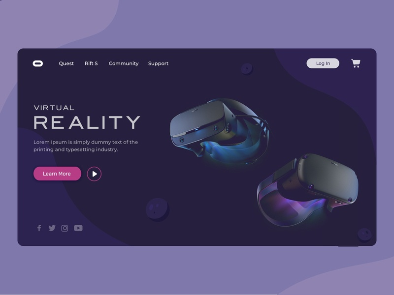 Oculus Landing Page | Virtual Reality community minimal minimalistic planet earth 2d art 3d animation web design vr virtual reality oculus rift landing page ui ux design attractive design dribbble illustration