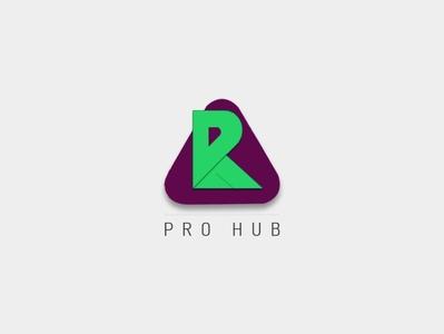 R | Pro hub logo design