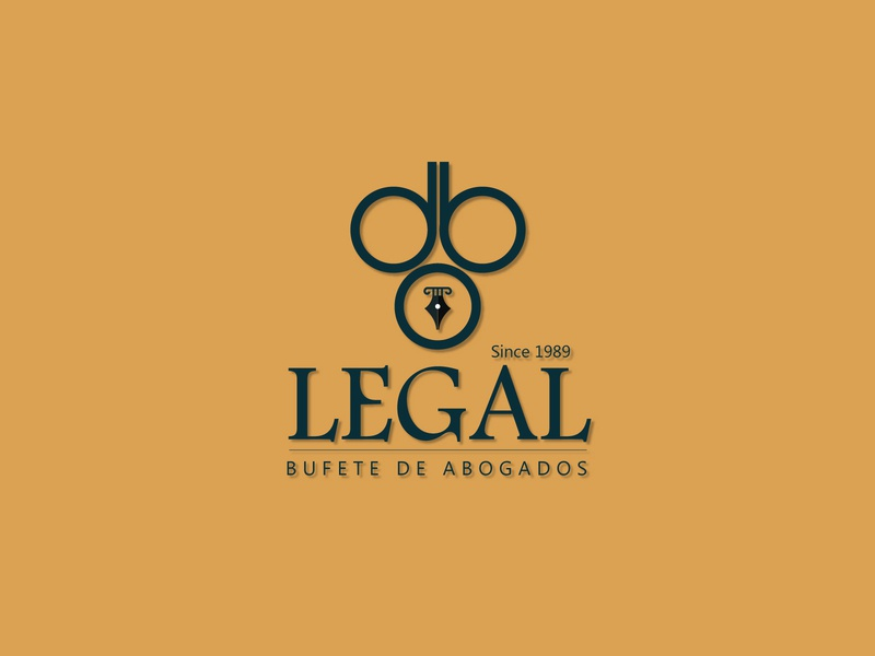 DBO Legal logo business logo design power courthouse lawyer logo law attorney  law legal office courtroom court ink legal adviser brand identity advocate dribbble typography logo attractive branding illustration