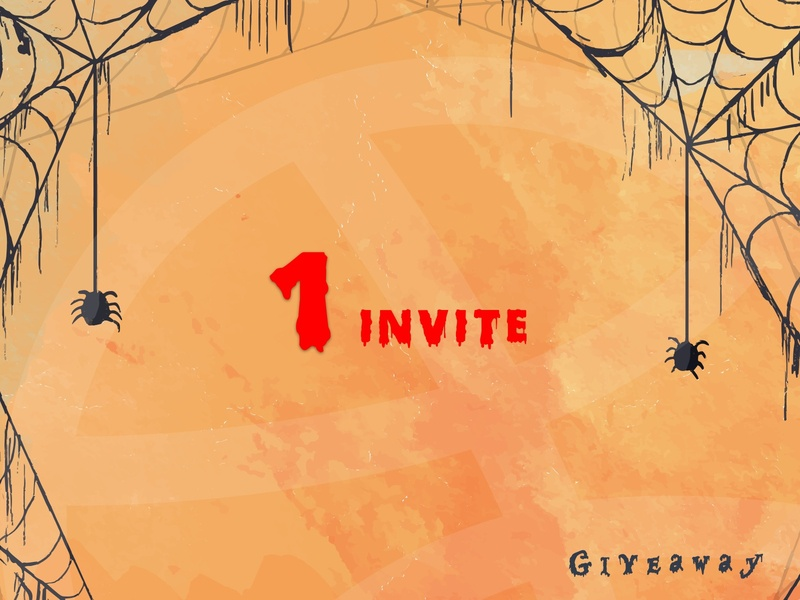 Dribbble Invite adult horror vacui spider spider web bloody thriller horror helloween giveaway drafted draft dribbble invitation dribbble invites dribbble invite giveaway creation attractive dribbble design illustration