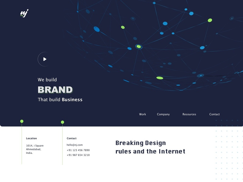 Brand and Product Agency Website Concept product layout daily ui service app motion analytic software animation development design web minimal marketing digital art branding agency landing page ux ui branding illustration