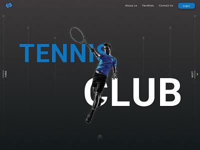 Tennis Club atpc table tennis team tournament club sports ball racquet typography landing page minimal ux ui branding design illustration banner tennis ball tennis player tennis