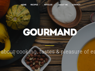 Cooking WP Theme Layout