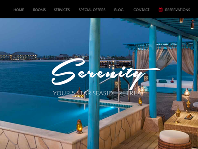 Resort WP Theme Layout