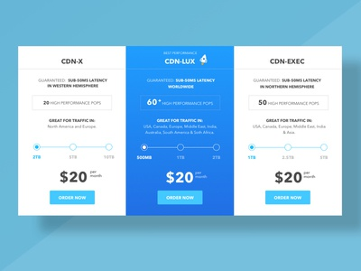 Pricing Table interface design ux ui pricing