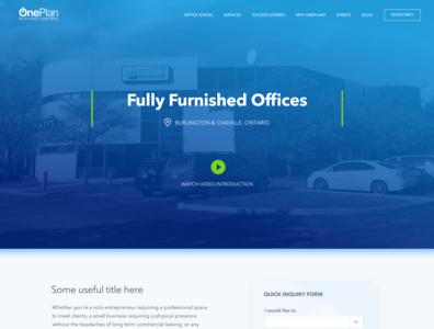 OnePlan Website Layout Proposal ui web design interface design