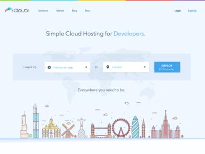 CloudMatch Website Layout ux ui design web interface design