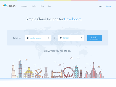 CloudMatch Website Layout ux ui design web interface design