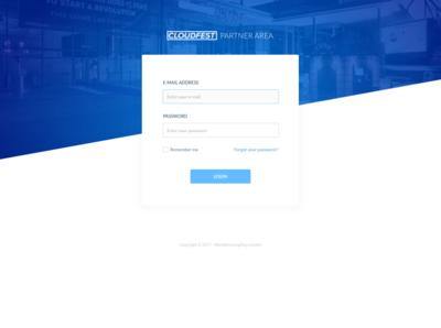 CloudFest Partners Area web app design app web ux design ui interface design