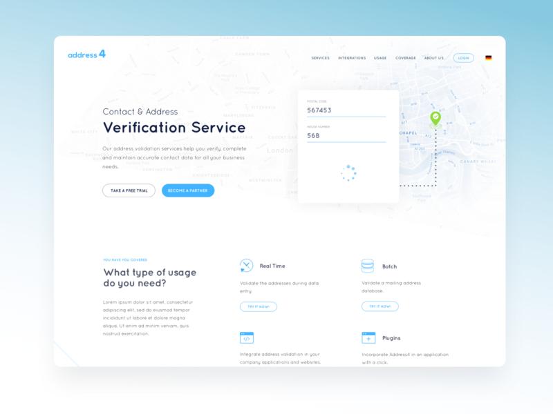 Address4 Website Layout Proposal v1 web design ui interface design