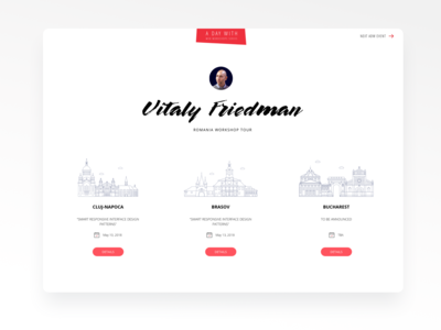 ADayWith Website Layout